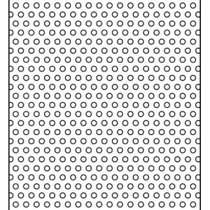 .0625in Diameter Circle on .125in Centers Perforation
