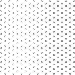 .063in Diameter Circle Perforation