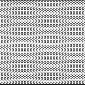.065in Diameter Circle Perforation on .094 Centers