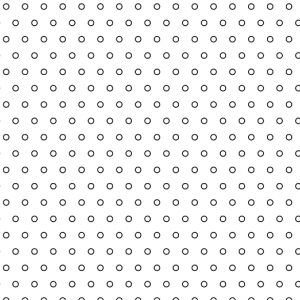 .065in Diameter Circle Perforation Pattern
