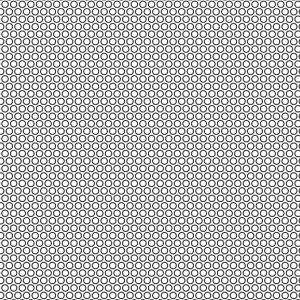 .075 Diameter Perforation Pattern on .100in Centers