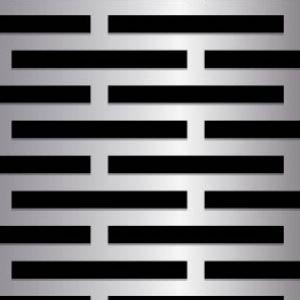 Slim Rectangle Metal Perforation Pattern