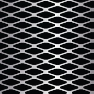 Diamond Shaped Metal Perforation Pattern