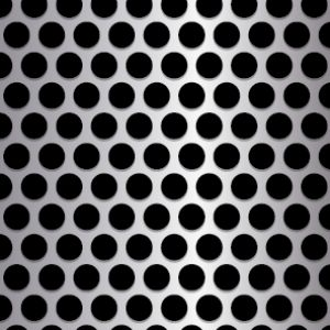 .375in Diameter Round Metal Perforation Pattern