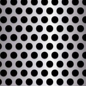 .375in Diameter Round Perforation Pattern on .563in Centers