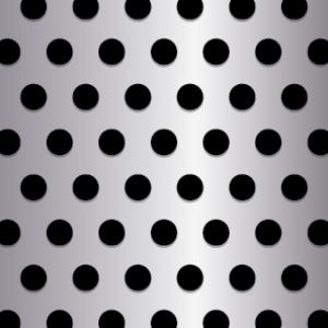 .375in Diameter Round Perforation on .75in Centers