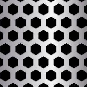 Hexagonal Metal Perforation Pattern