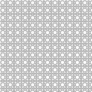 Mini Cane Metal Perforation Pattern