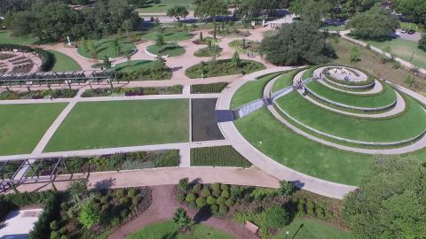 Aerial View of Elevated Fountain