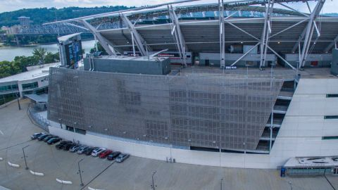Perforated Metal Cladding System for the Paul Brown Stadium