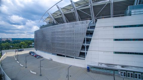 Perforated Metal Cladding Panels for the Paul Brown Stadium
