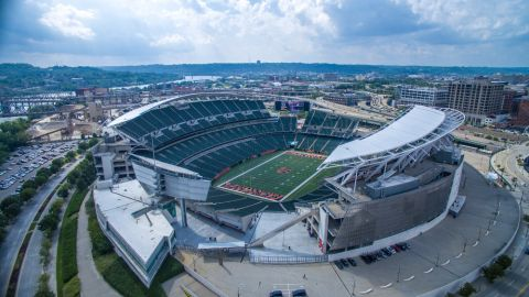 Perforated Metal Cladding Project for the Paul Brown Stadium