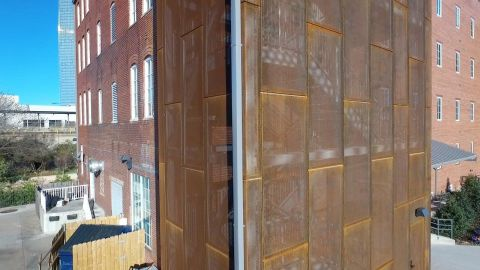 Perforated Corten Metal Panels for The Melting Pot