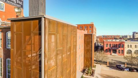 Perforated Corten Panels for The Melting Pot