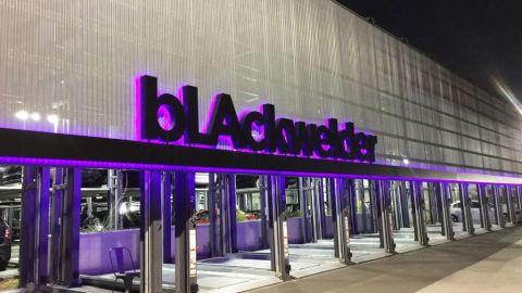 bLAckwelder Building Perforated Corrugated Metal Panels