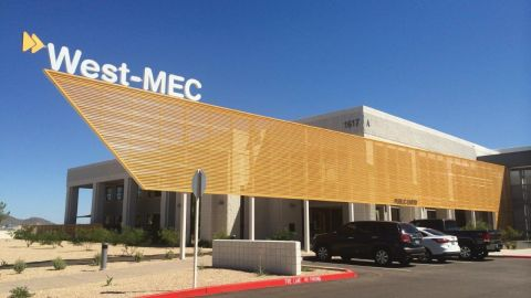 Perforated Corrugated Metal Panels at West-MEC