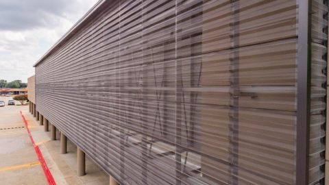 Perforated Corrugated Façade Application