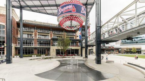 Fountain Grating at the Suntrust Park Stadium