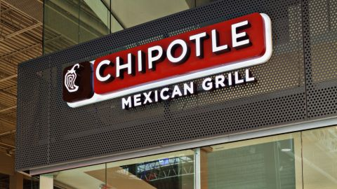 Perforated Metal Sign for Chipotle