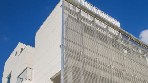 Perforated Corrugated Metal Panels at the Art Colony