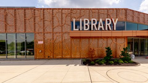 H Clad Mounting System Used for a Library