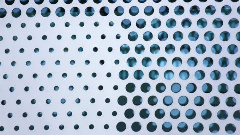 Up Close View of the Perforated Metal Cladding for Cisco Systems