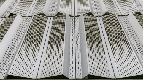 Exterior Perforated Metal Cladding Panels for Harrison St. Parking