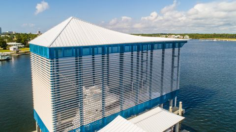 Sunset Point Dock Perforated Metal Cladding