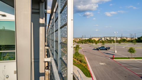 Behind the Perforated Metal Cladding for The Lakes at Tech Ridge