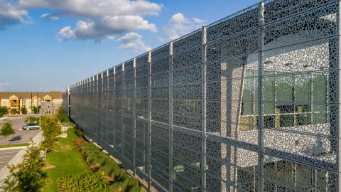 Side View of the Perforated Metal Cladding for The Lakes at Tech Ridge