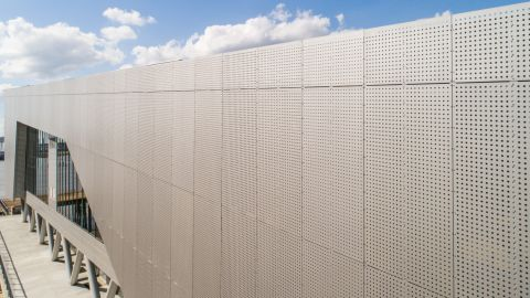 Perforated Metal Cladding Panels for the Water Inst. of the Gulf