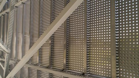 Looking Behind the Perforated Metal Cladding Panels for the Water Inst. of the Gulf