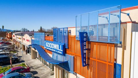 Perforated Metal Cladding System for Goodwill