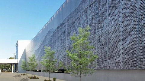 Perforated Metal Imaging Example from Ashville Airport