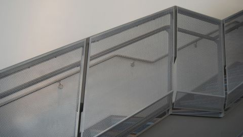 Perforated Metal Infill Patterns at an Auto Dealership