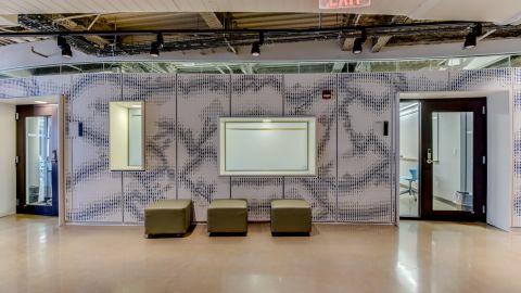 UCONN Waterbury Interior with Perforated Metal Panels