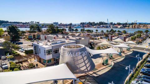 Vallejo Transit Center Aerial View