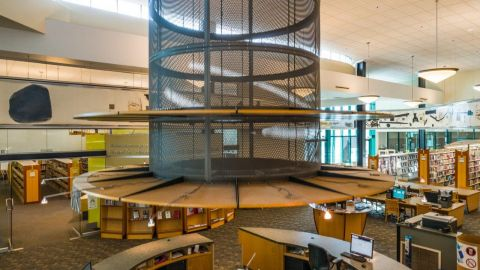 Perforated Metal Panels for the Interior of WPR Library