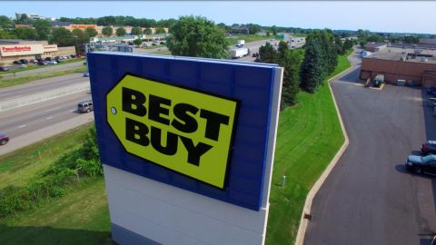 Perforated Metal Signage for Best Buy