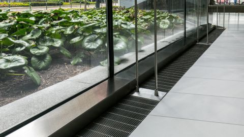 Stainless Steel Ventilation Grille at 609 Main
