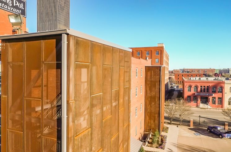 architectural corten perforated metal cladding panels