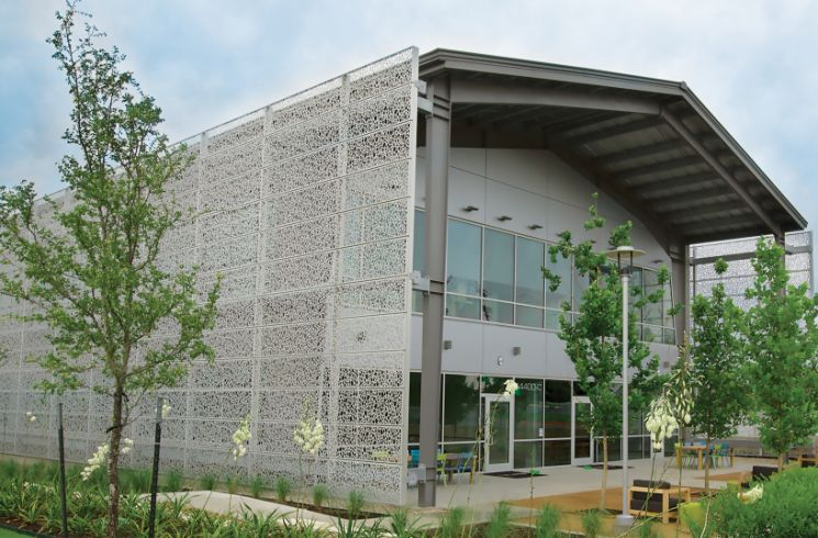 architectural perforated metal cladding panels facade