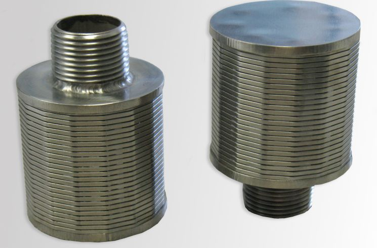 Nozzles can be used to for solid, liquid, or gas separation, as well as media retention