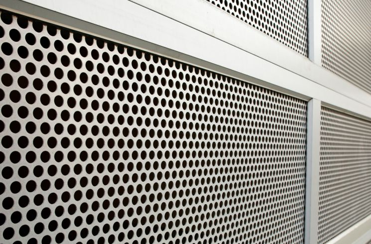 Perforated door panels offers safety, while it's aesthetically pleasing