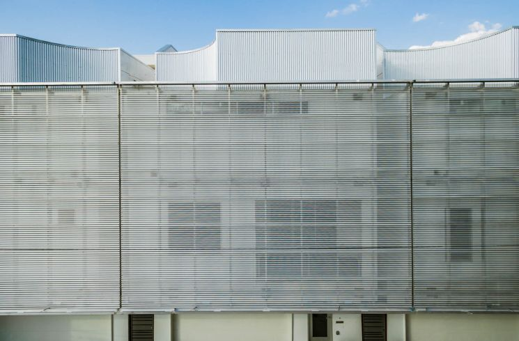 perforated corrugated metal panels BWC374