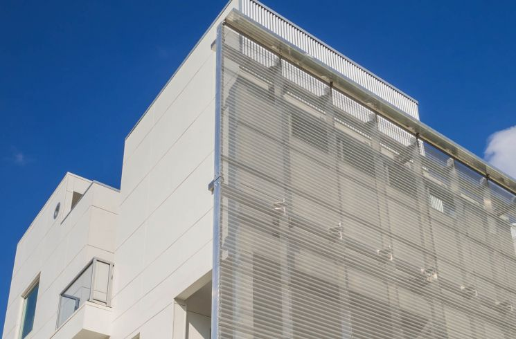 perforated corrugated metal panel system BWC374