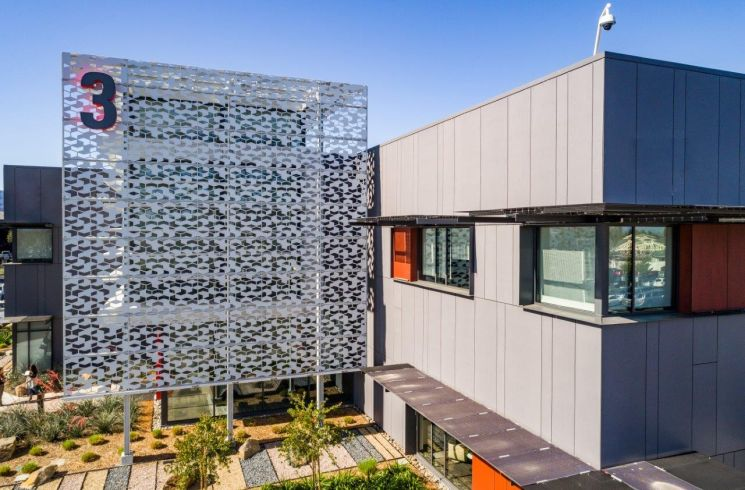 architectural perforated metal facade