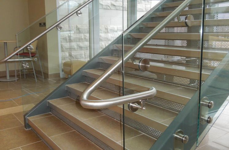 perforated metal stair riser