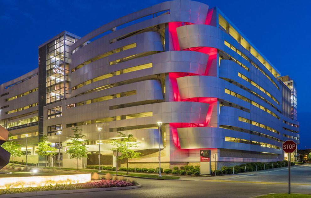 Metal Cladding at Cleveland Medical Center Parking Garage