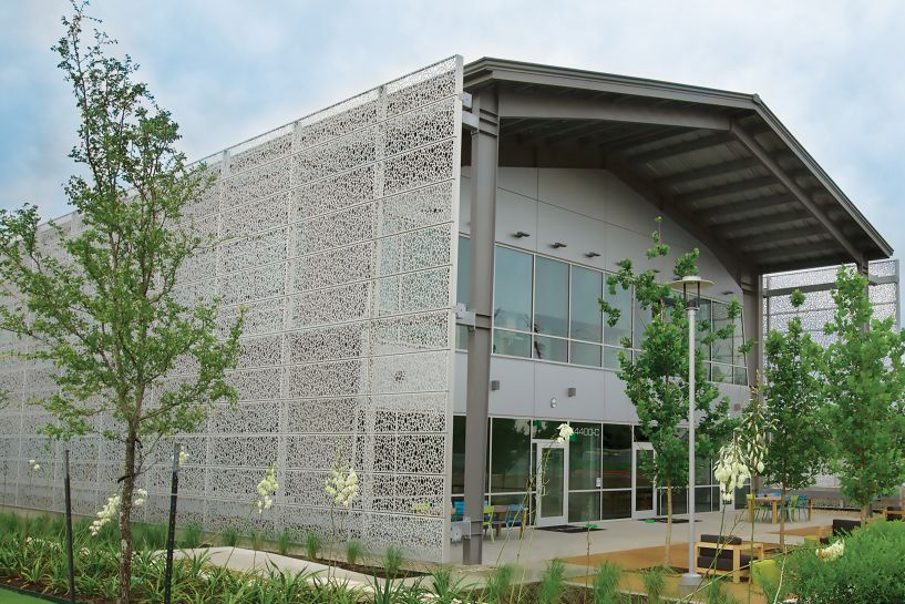 Architectural Perforated Metal Panels : Metal cladding systems architectural hendrick